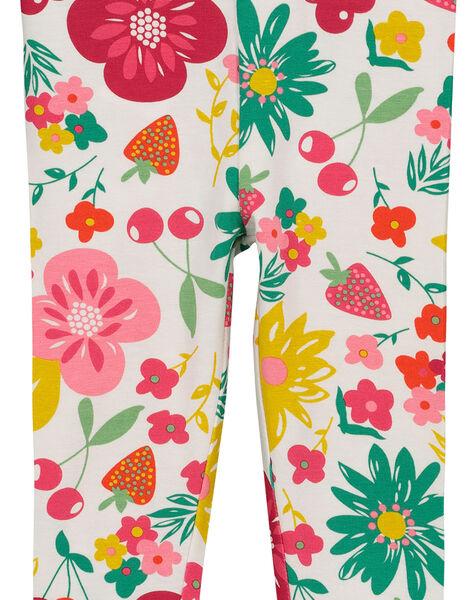 Baby girls' printed leggings FYIYELEG / 19SI09M1CAL099