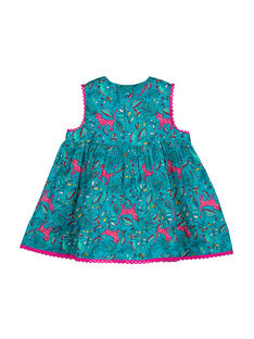 Girls' sleeveless dress FITUROB1 / 19SG09F1ROB202