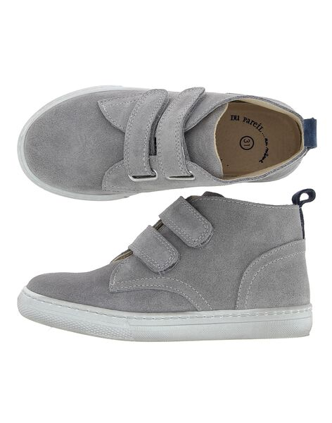 Boys' leather high top trainers CGBASCROI / 18SK36W2D3F940