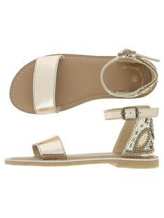 Girls' leather sandals CFSANDPERL / 18SK35W8D0E954