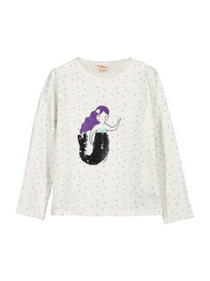 Girls' long-sleeved T-shirt FANETEE1 / 19S901B1TML000