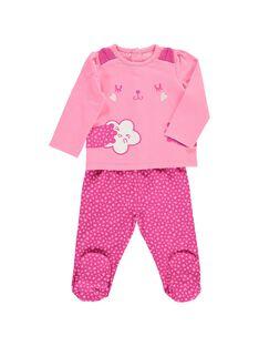 Baby girls' cotton pyjamas CEFIPYJCHA / 18SH1341PYJ313