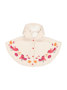 Baby girls' wool poncho FIBACAPE / 19SG09X1CPE001