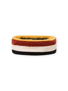 Boy's striped chenille snood MYOGROSNO6 / 21WI0268SNO809
