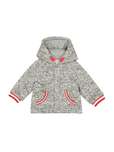 Baby boys' zipped hooded jacket FUGROVES2 / 19SG10X2VES099