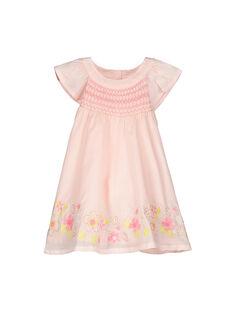 Baby girls' smocked dress FIPOROB1 / 19SG09C1ROB307