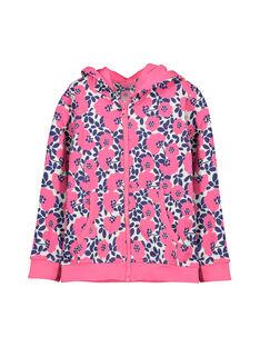 Girls' zipped hoodie FAJOHOJOG3 / 19S901Y3D33099