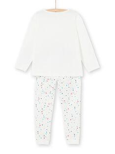 Phosphorescent children's pajamas in jersey with cat pattern LEFAPYJCAT / 21SH1151PYJ001