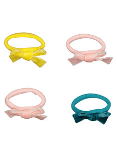 Set of girls' bow hair elastics GYAJAUELA / 19WI0179ELAB107
