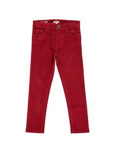 Boys' velour slim fit trousers DOJOPAVEL1 / 18W90233D2B505