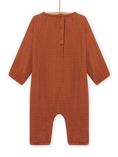 Brown jumpsuit in cotton gauze birth mixed MOU1COM2 / 21WF0542CBLI810