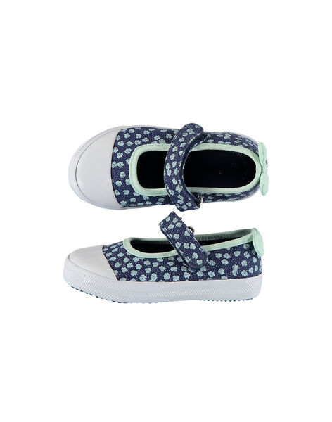Baby girls' canvas Mary-Janes FBFBABSHEL / 19SK37B1D17070