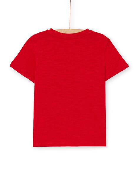 Red cotton t-shirt boy boy LOJOTI4 / 21S90232TMC050