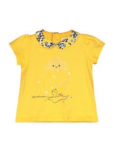 Baby girls' T-shirt with a Peter Pan collar FILIBRAEX / 19SG0922BRA103