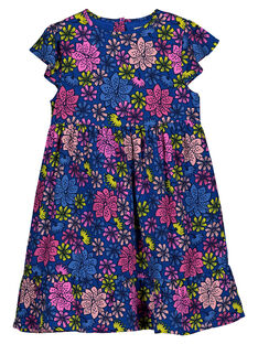 Girls' floral print dress GABLEROB1 / 19W90192ROB707