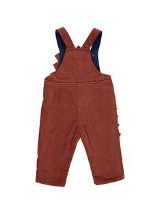 Baby boys' fancy velour dungarees DUPINSAL / 18WG10P1SAL809