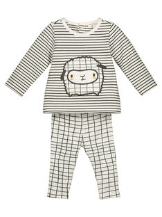 Unisex babies' T-shirt and trousers set GOU1ENS2 / 19WF0512ENS001