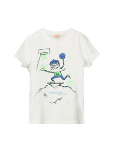Boys' fancy short-sleeved T-shirt FONETI3 / 19S902B3TMC000