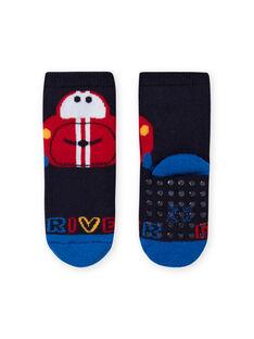 Baby boy navy blue socks with car design LYUHACHOB2 / 21SI10X2SOQ713