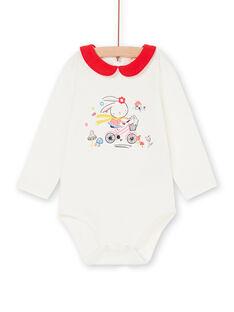 Body ecru and red baby girl LIHABOD1 / 21SG09X2BOD001
