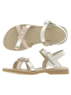 Girls' leather sandals CFSANDNOEU / 18SK35WJD0E954