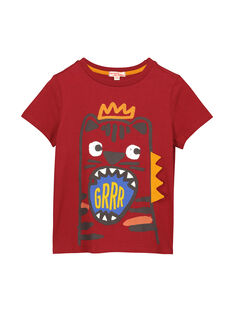 Boys' short-sleeved T-shirt FOBATI2 / 19S90262TMCF509