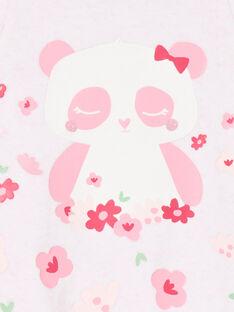 Pink sleep suit girl's pink mottled panda pattern LEFIGRECHA2 / 21SH1359GRED314