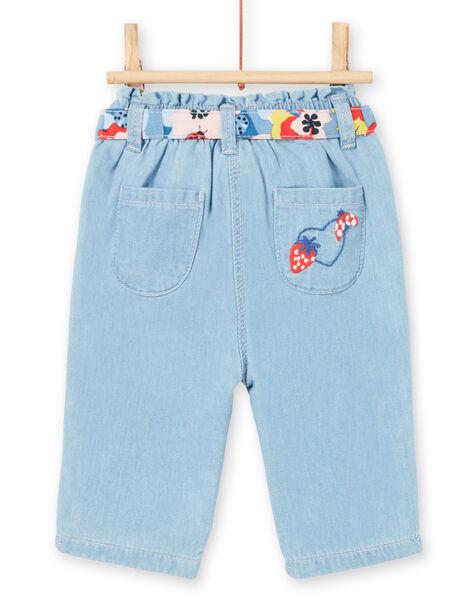 Baby girl jeans with belt LICANPAN / 21SG09M1PANP272
