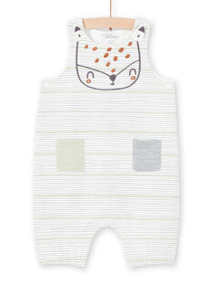 Unbleached and green striped overalls birth mixed MOU1SAL2 / 21WF0541SAL001