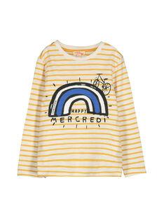Boys' long-sleeved T-shirt FOLITEE3 / 19S90223TML001