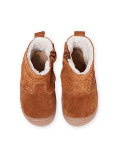 Baby girl camel fur boots MIBOTTEFLEX / 21XK3782D10804