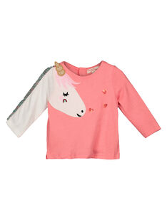 Baby girls' long-sleeved T-shirt GIVETEE / 19WG0921TMLD323
