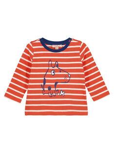 Light orange T-shirt GUJOTIRAY3 / 19WG1046TML406
