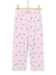 Pink panda pyjama set in soft boa for child girl MEFAPYJKAN / 21WH1191PYJ326