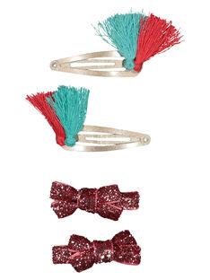 Set of girls' fancy hair clips GYAVECLIC3 / 19WI0173BRT953
