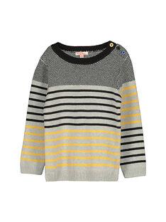 Boys' striped sweater FOLIPUL / 19S90221PUL099