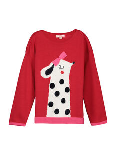 Girls' cotton knit sweater FACOPULL1 / 19S90181PUL050