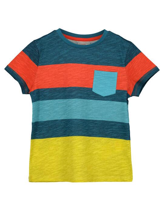 Boy's striped T-shirt FOCUTI6 / 19S902N1TMC715