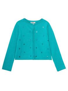 Medium turquoise Cardigan JABOCAR2 / 20S901H1CAR209