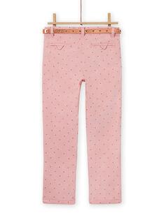 Old pink pants with polka dots child girl MASAUPANT2 / 21W901P1PAN303