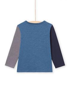 Baby boy blue long sleeve t-shirt with dinosaur design MOPATEE2 / 21W902H2TML219