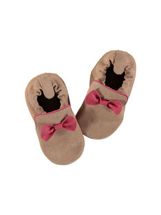 Baby girl's leather slippers. FNFBOW / 19SK3739D3S301