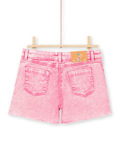 Girl's acid wash pink shorts LABONSHORT1 / 21S901W2SHOD311