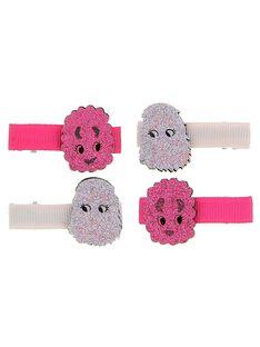 Set of girl's hair clips DYAROUCLIC1 / 18WI0122BRT099