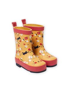 Orange RAIN BOOTS MIPLUICHAT / 21XK3711D0C400