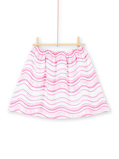 Fluorescent pink and white stripes skirt LABONJUP2 / 21S901W1JUP000