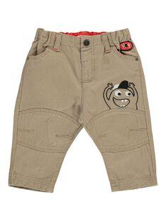 Baby boys' fancy beige trousers DUROUPAN / 18WG1021PANI812