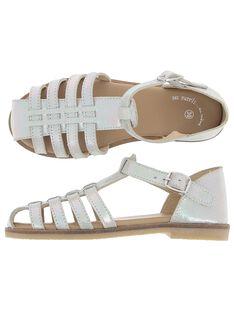 Girls' leather sandals CFSANDIRIS / 18SK35WBD0E001