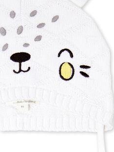 White and yellow knit cap LOU1BON3 / 21SF42H2BON000
