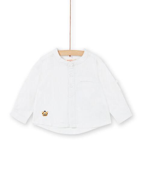 White baby boy shirt LUBALCHEM / 21SG10O1CHM000
